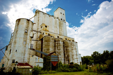 Abandoned grain silo in Texas