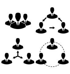 Set icons human resources and management