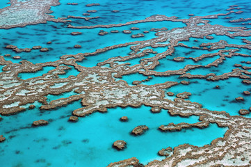 Spoed Fotobehang Australië Aerial View Great Barrier Reef Australia-3