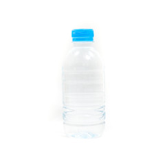 A bottle of water on white background.