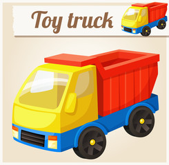Toy truck. Cartoon vector illustration. Series of children's