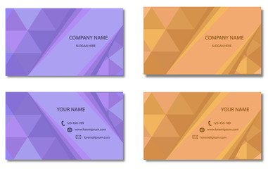 Modern Business-Card Set | EPS10 Vector Design