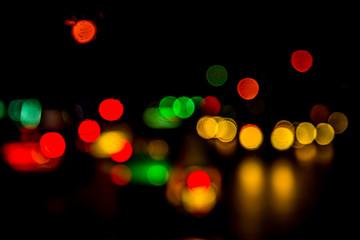 Abstract bokeh traffic light.