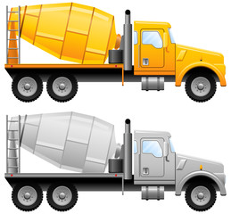 Concrete mixer truck, vector illustration.