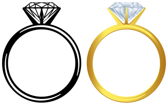 Engagement diamond ring.