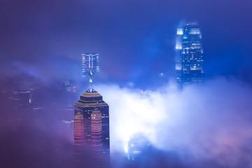 Fotomurales - Skyscraper in fog