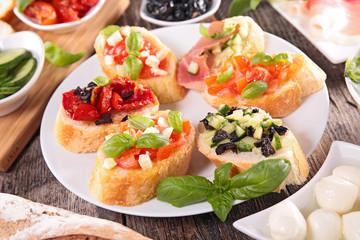 bruschetta and ingredient