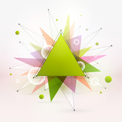 Abstract vector colorful mixed polygonal background. Summer party. Vector illustration for business, advertising, web, print. Hight quality vector wallpaper. Technology, science vector background
