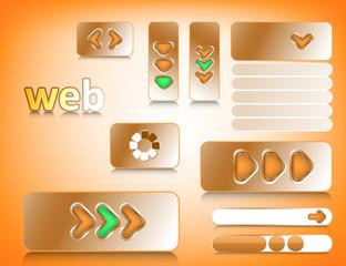 Web design elements, website buttons collection