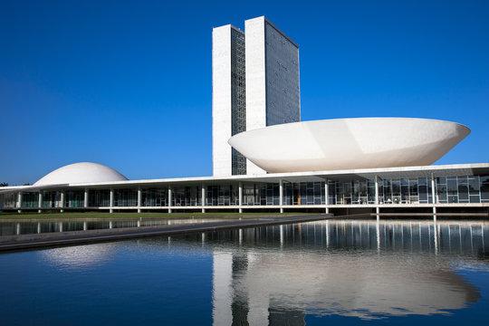 ブラジリアの国会議事堂