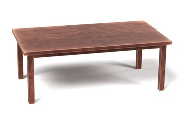 3d render of wooden table