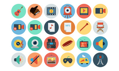 Multimedia Flat Icons 5