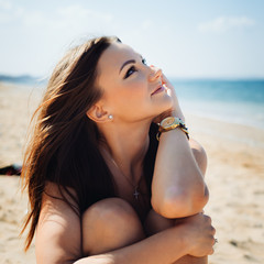 Young fashion woman relax on the beach