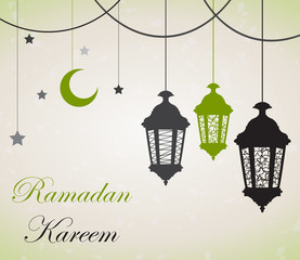 Ramadan Kareem background. Vector illustration