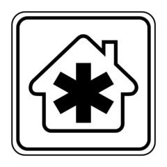 Logo maison et ambulance.