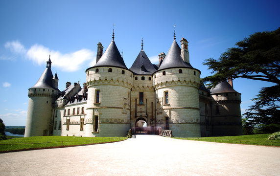 Chaumont castle in Loire Valley, France