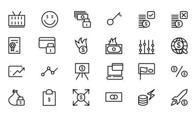 Money Vector Line Icons 4