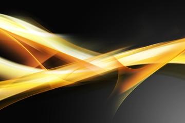 Fototapeta Elegant Yellow Orange Fractal Composition obraz