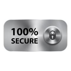 100 secure vector button