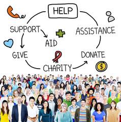 Help Assistance Support Donate Volunteer Concept