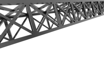 Black construction rendered on white