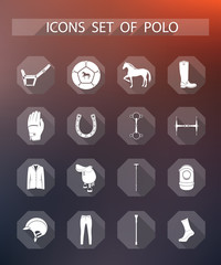 Vector set of icons polo