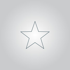 Clasic star - vector icon