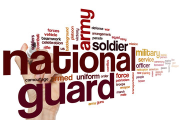 National guard word cloud