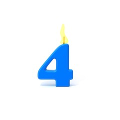 Birthday candles number four
