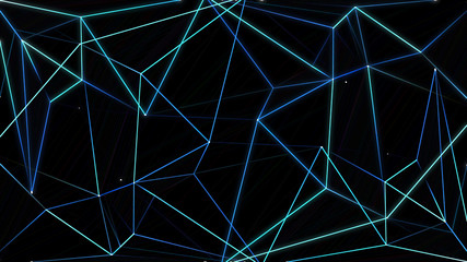 Neon Polygon Background