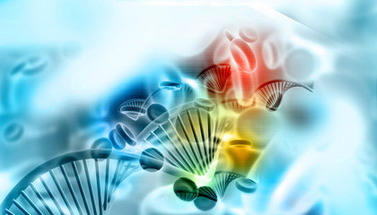 Dna in digital background
