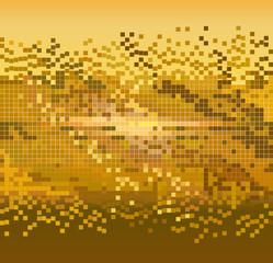 golden pixels background