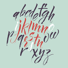 Alphabet letters. Vector alphabet.