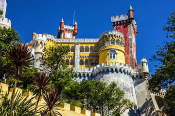Fotoväggar - Pena National Palace in Sintra, Portugal