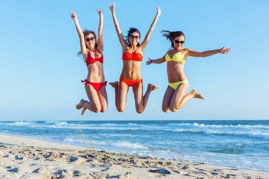 Bikini, fun, beach.