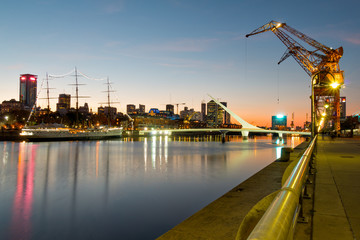 Wall Mural - Puerto Madero bei Nacht, Buenos Aires Argentinien