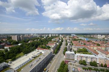 Frankfurt (Oder), Karl-Marx-Straße von oben