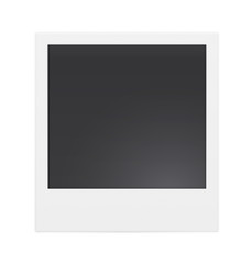 Photo frame isolated on white background. Vector illustration
