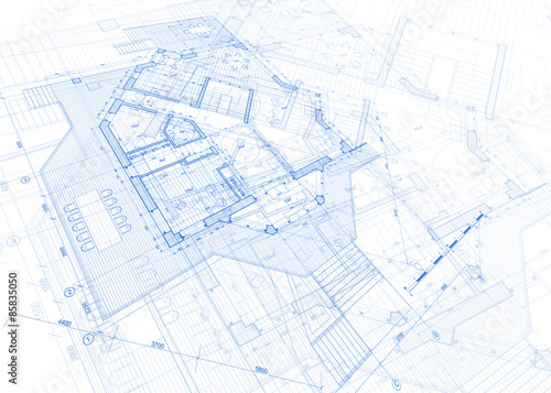 Architecture blueprint house plan vector illustration stock architecture blueprint house plan vector illustration malvernweather Image collections