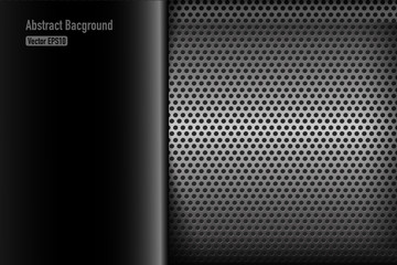 Chrome black and grey background texture vector illustration 007
