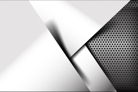 Chrome black and grey background texture vector illustration 012