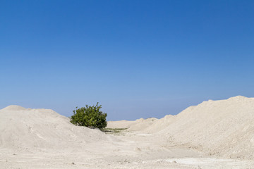 Limestony quarry industry, summer, Ukraine