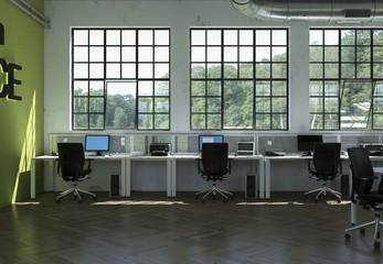 modernes Großraumbüro Green Office