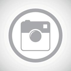 Grey square camera sign icon