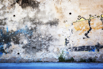 In de dag Graffiti Urban Grunge - Colorful Wall Grafitti Background Texture.