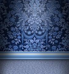 Blue Damask Room