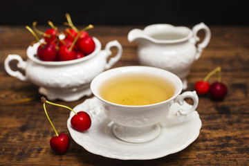 tea and cherry o