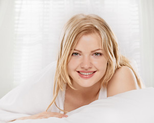 portrait in the bed