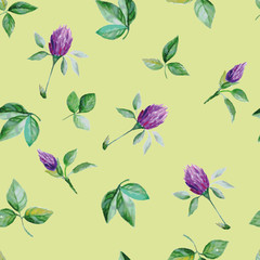 seamless pattern of clover