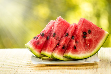 Watermelon Slices on dish